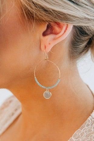 Mint To Be Fabulous Hoop Earrings