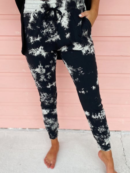 Back In Black Tie Dye Joggers