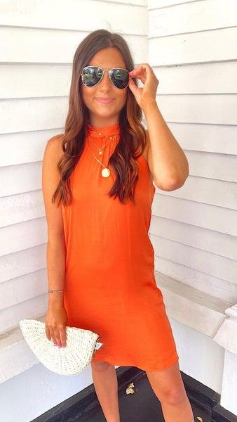 Lila Dress -Orange