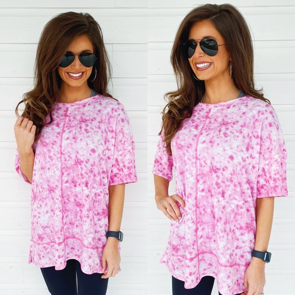 Burst Of Pink Tie Dye Top