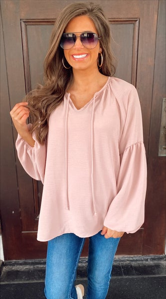 Dramatic Dusty Rose Top