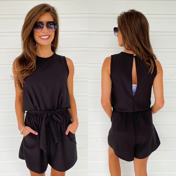 Hottie Black Romper