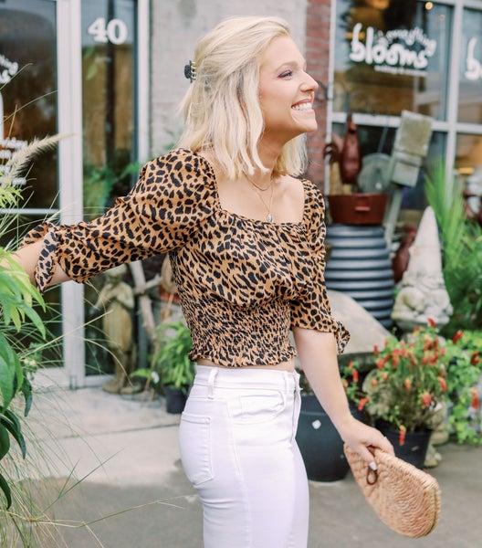 Chelsea Cheetah Crop Top
