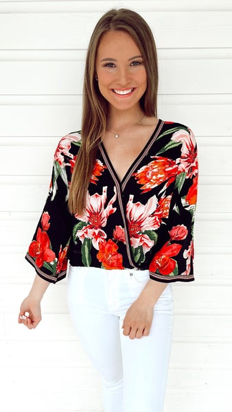 Night Swimming Floral Top