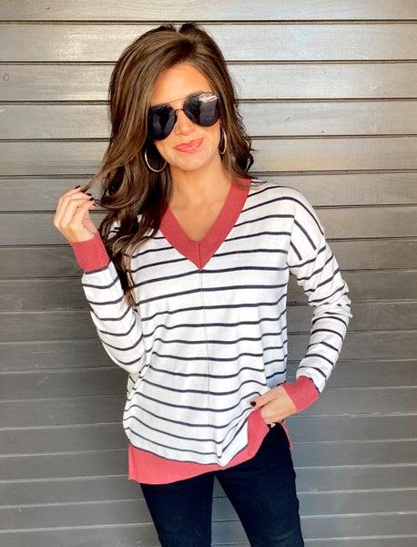 Chloe Striped Sweater