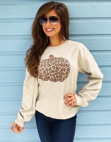 Leopard Pumpkin Pullover