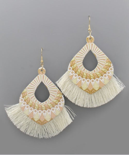 Life of the Party Ivory Tassel earrings