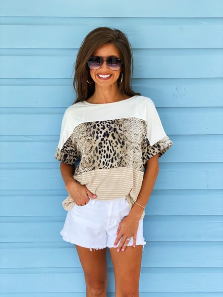 It's All You Snake Print Top