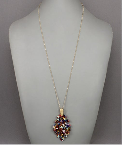 Colorful Acrylic Leaf Necklace