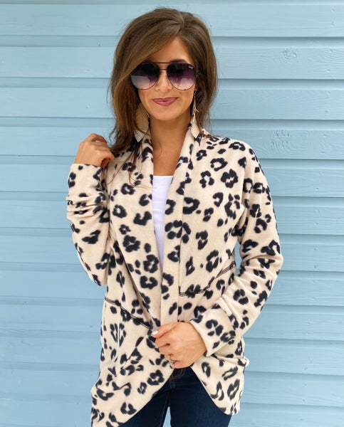 Blushing In Blush Leopard Cardigan