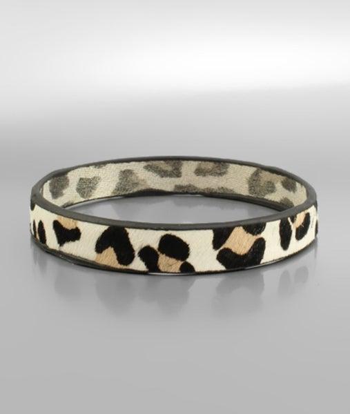 Lighten Up Leopard Leather Bracelet