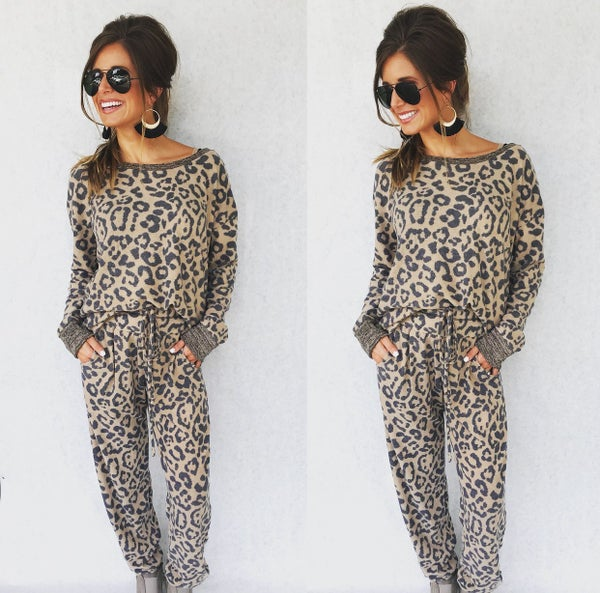 Lounging In Leopard Set
