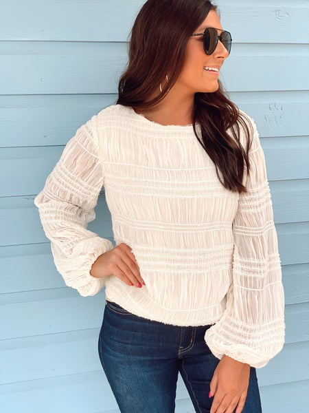 Ivory Sequin Top