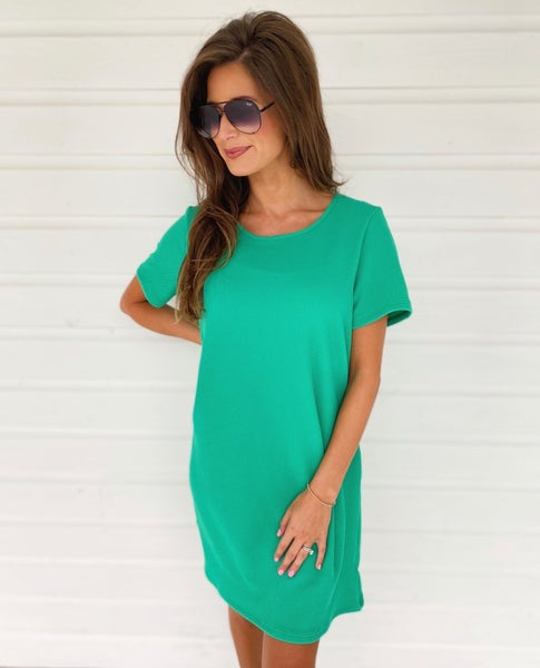 Make You Happy Dress- Green