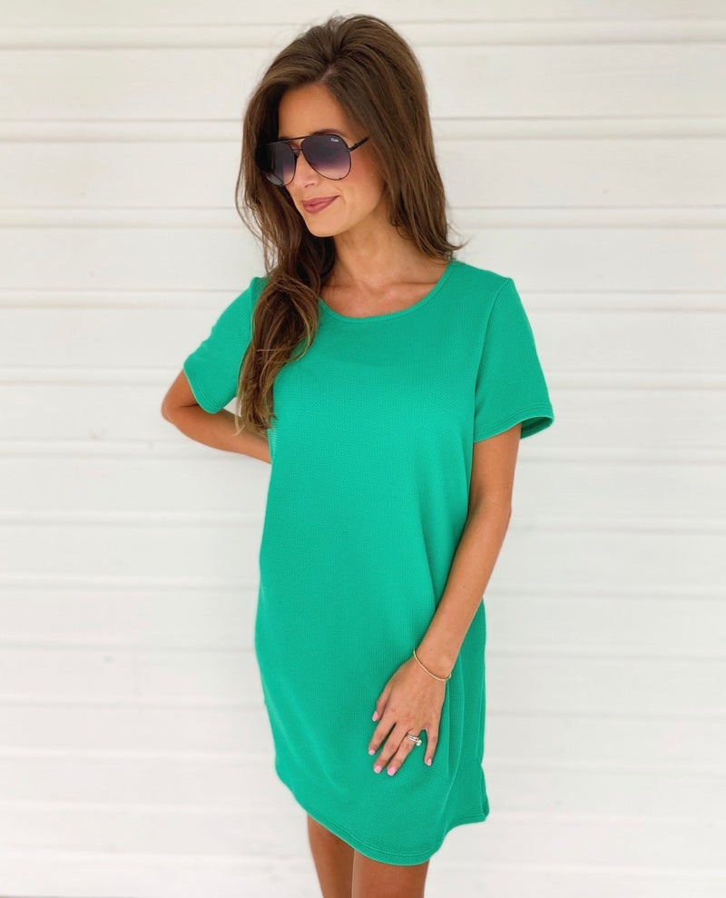 Make You Happy Dress- Green