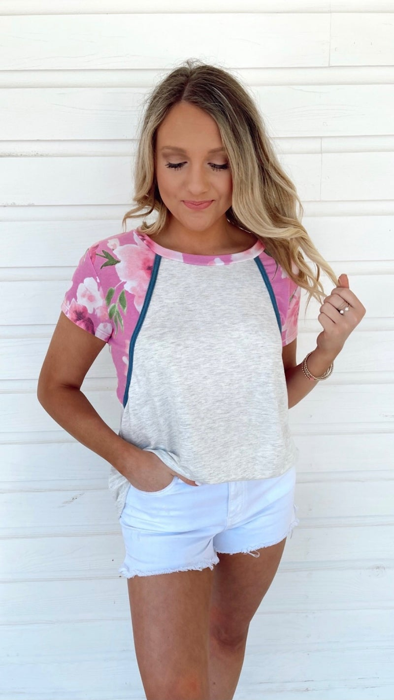 Mimosa Mornings Floral Top