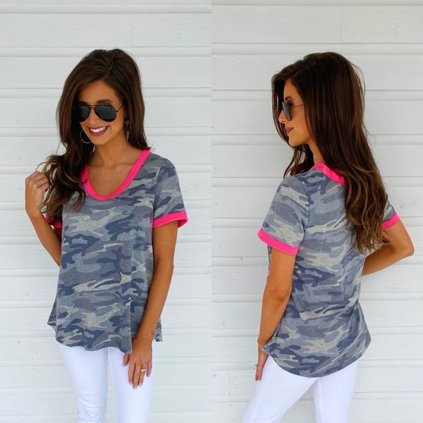 Devoted To You Camo Top