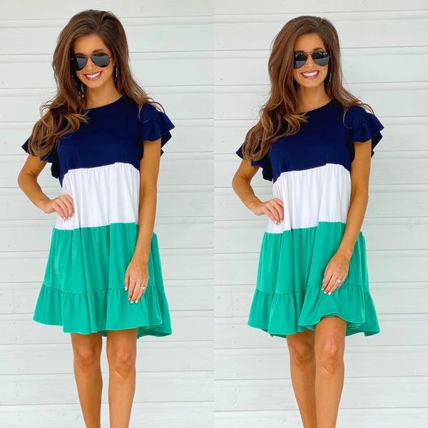Kiss Me I'm Irish Ruffle Dress