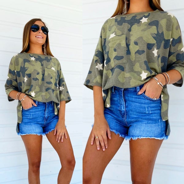 On The Hunt Camo Top
