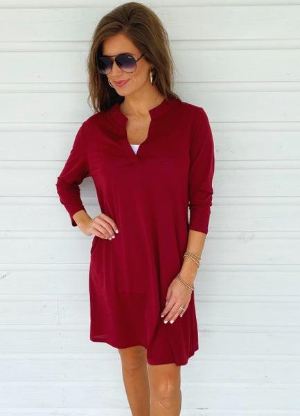 Demi Dark Burgundy Dress