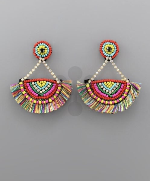 Feeling Fiesta Colorful Earrings