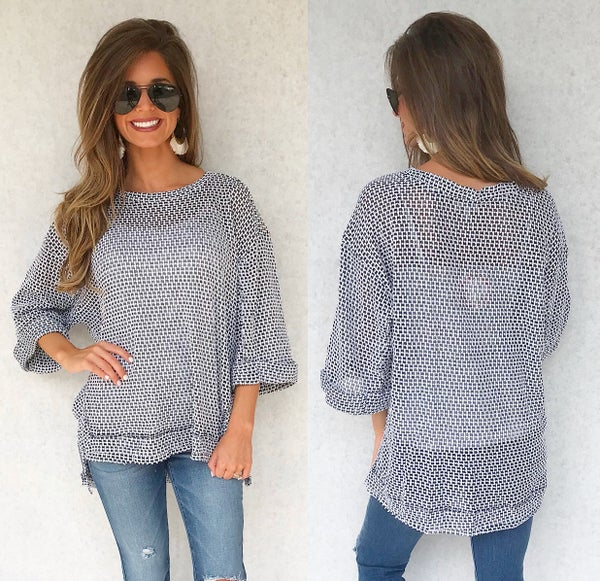 Black & White Speckled Top