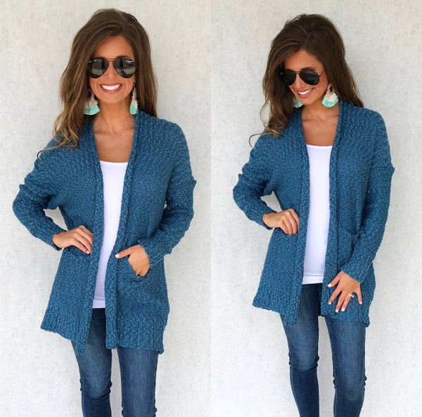 Midnight Blue Knit Cardigan