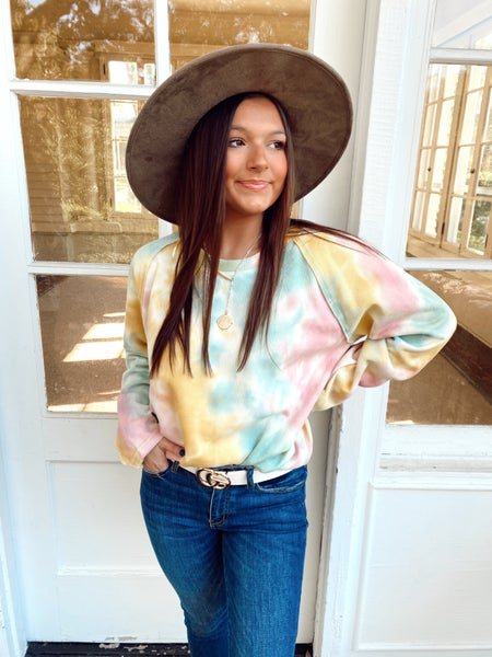 Charlie Tie Dye Top- Cotton Candy