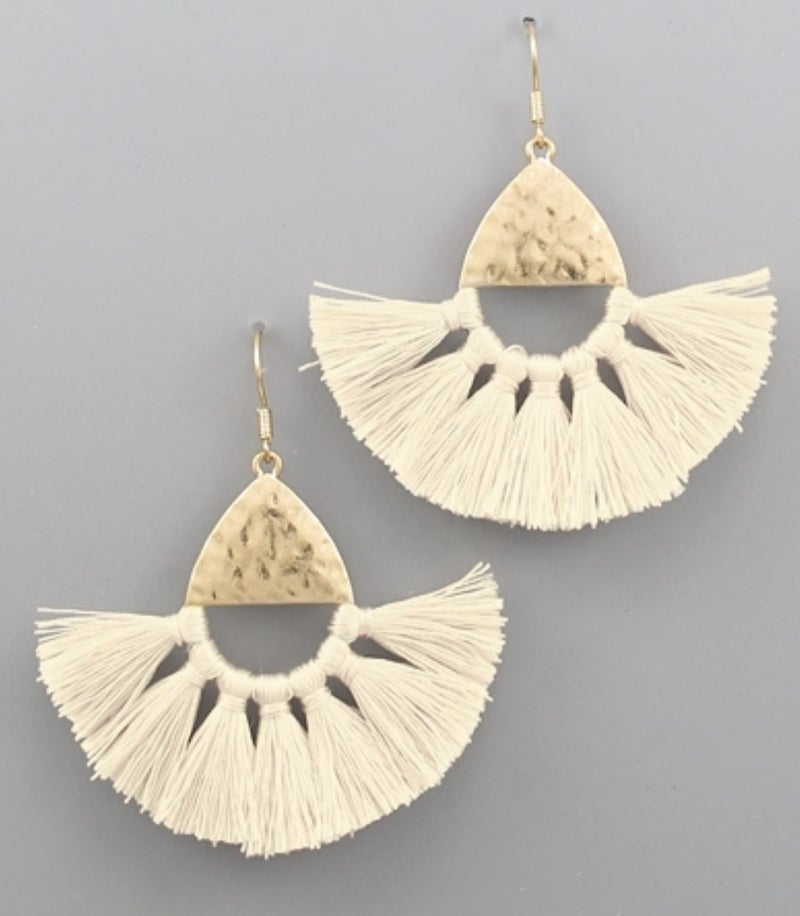 Bailey Ivory Tassel Earrings