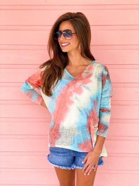 In For A Surprise Tie Dye Top *Final Sale*
