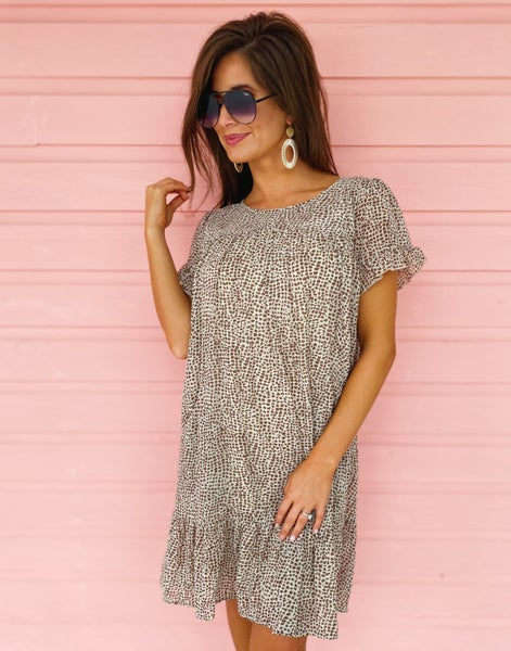 Stone Spotted Dress