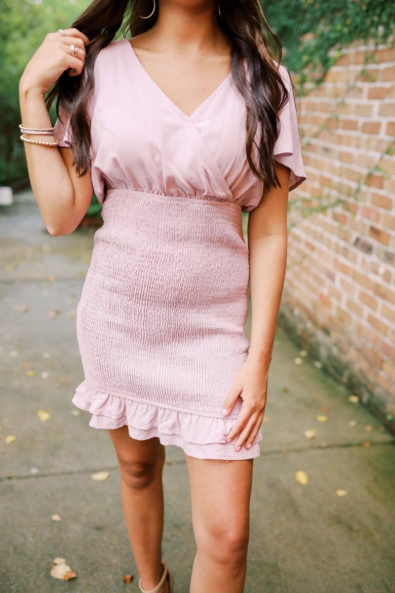 Lela Lavender Smocked Dress