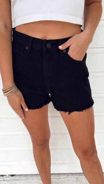 Drew Denim Shorts- Black