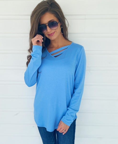 Evie Baby Blue Top *Final Sale*