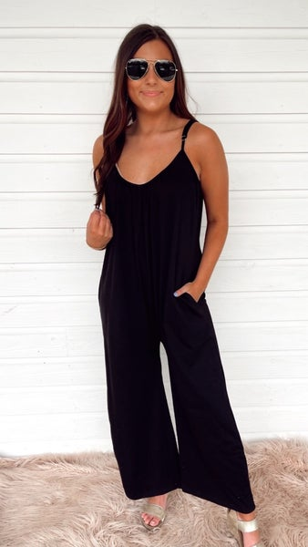 Easy Come Easy Go Jumpsuit- Black