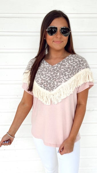 Frilly Fringe and Leopard Top