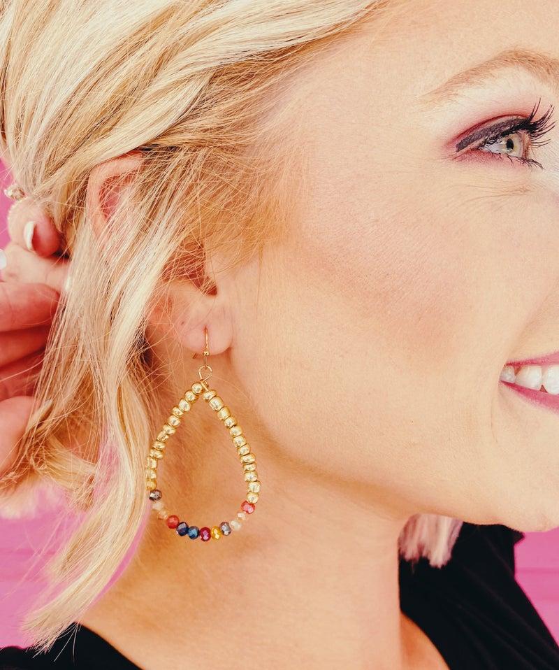 Fall for Gold Teardrop Earrings