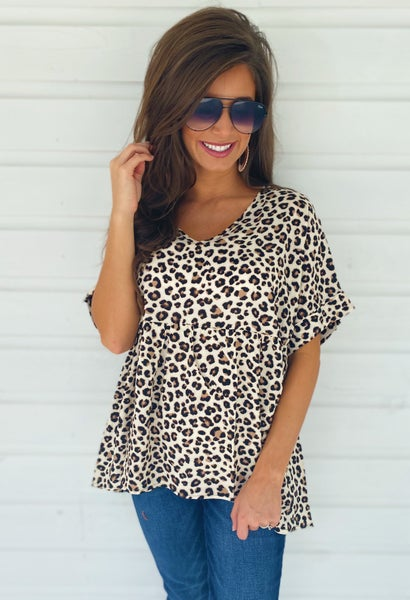Animal Print Lover Peplum Top