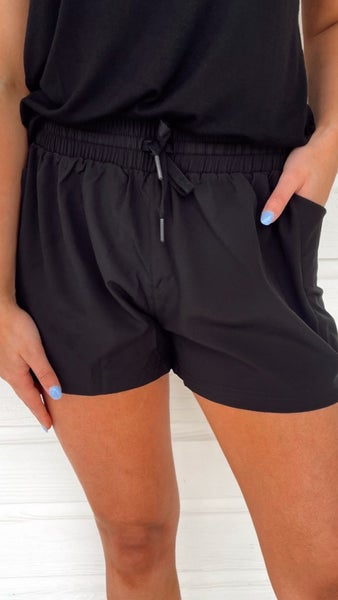 Work It Black Athletic Shorts