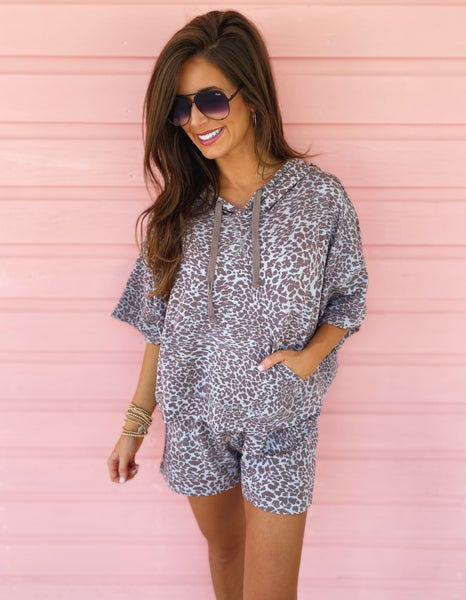 Lilac Printed Lounge Set