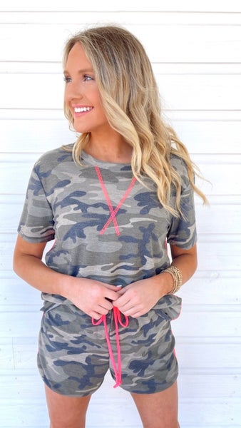 Found You Hot Pink & Camo Set