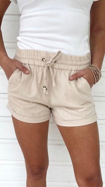 Daisy Cuffed Shorts- Khaki