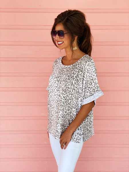Truly Taupe Leopard Top