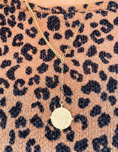 Y Not Gold Coin Necklace