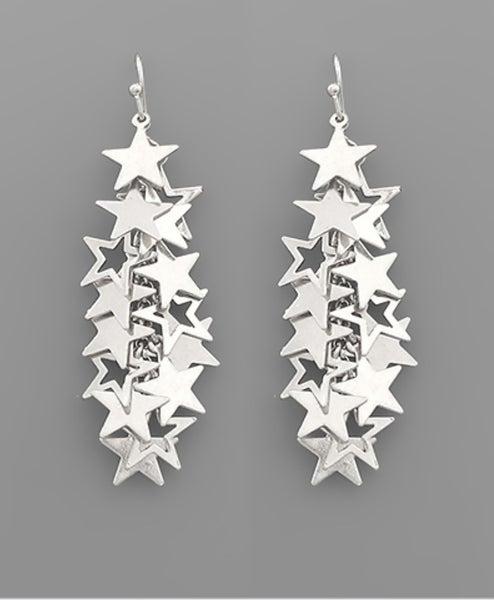 Future Promises Star Earrings- silver