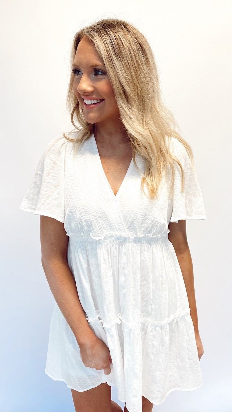 Always Vacay Time White Dress