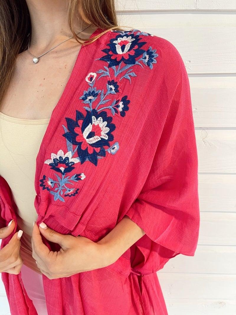 Island Time Floral Kimono
