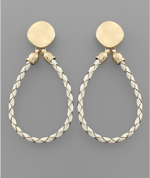 Rope The Moon Earrings- White