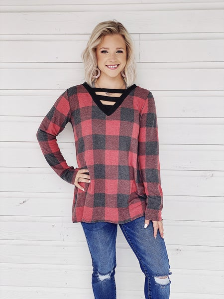 Perfect In Plaid Top *Final Sale*