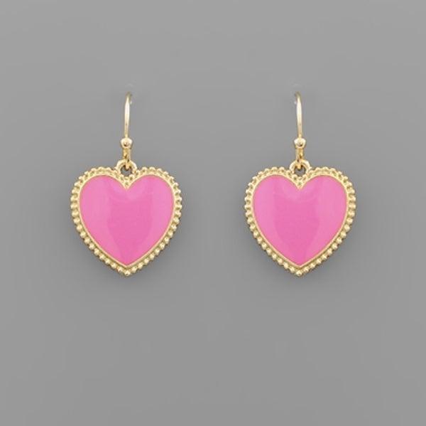 I Heart You Pink Earrings